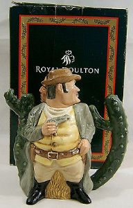 Royal Doulton - Double Character Cowboy & Indian Teapot - 2002 - Boxed